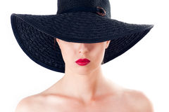 Woman in a hat Royalty Free Stock Photos