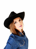 Woman with hat. Stock Photography