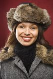 Woman in hat and coat. Stock Photos