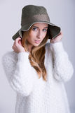 Woman with Hat Stock Photos