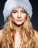 Woman at hat Royalty Free Stock Photo