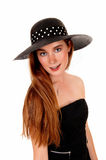 Woman with hat. Royalty Free Stock Photos