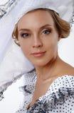 Woman in hat retro portrait. Stock Photography