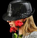 Woman, Hat, Roses, Mysterious Royalty Free Stock Image
