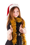 Woman hat santa claus Royalty Free Stock Images