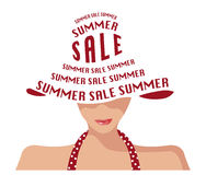 Woman hat, summer sales, sales Stock Photos