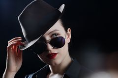 Hat and sunglasses Royalty Free Stock Photos