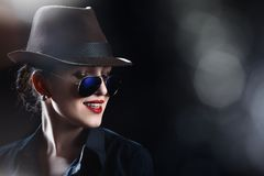 Hat and sunglasses Royalty Free Stock Images