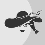 Woman in a Hat Vector Symbol Stock Images