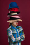 Woman and hats. Hat is an indispensable part of the woman dress Stock Photo