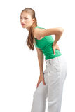 Woman have a back pain Stock Photos