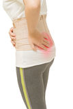 Woman have back pain Royalty Free Stock Image