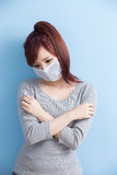 Woman have a sick Stock Image