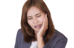 Woman have a toothache Royalty Free Stock Photo