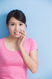 Woman have toothache Stock Photography