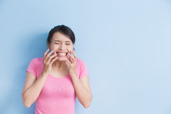 Woman have toothache Royalty Free Stock Photos