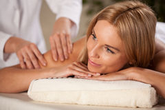 Woman having arm massage Royalty Free Stock Image