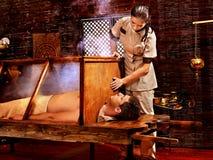 Woman having Ayurveda sauna. Stock Photos