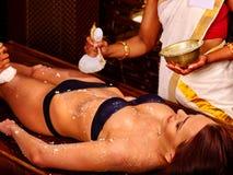 Woman having Ayurvedic feet spa massage Royalty Free Stock Photography