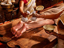 Woman having Ayurvedic feet spa massage Royalty Free Stock Photography