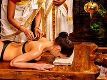Woman having Ayurvedic spa massage Royalty Free Stock Photos