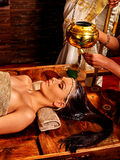 Woman having Ayurvedic spa treatment Royalty Free Stock Photography