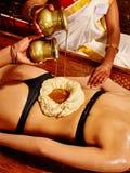 Woman having Ayurvedic spa treatment Royalty Free Stock Photo
