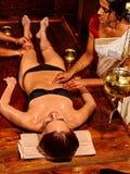 Woman having Ayurvedic spa treatment Royalty Free Stock Images
