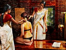 Woman having Ayurvedic spa treatment. Stock Photography