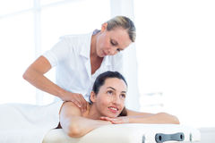 Woman having back massage Royalty Free Stock Photo