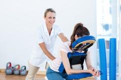 Woman having back massage Royalty Free Stock Photo