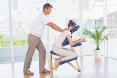 Woman having back massage Royalty Free Stock Photos