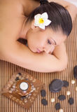 Woman having beauty treatments in the spa salon Royalty Free Stock Photo