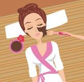 Woman having beauty treatments in the spa salon Stock Photos
