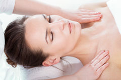 Woman having body massage Stock Image