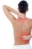 Woman having body pain Royalty Free Stock Photography