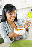 Woman having breakfast Royalty Free Stock Photography