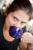Woman having a coffee Royalty Free Stock Photo