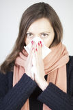 Woman having a cold Stock Photo