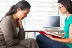 Woman Having Counselling Session. With Female Counsellor Royalty Free Stock Images