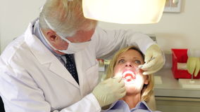 Woman Having Dental Check Up Stock Photo