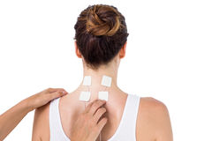 Woman having electrotherapy Royalty Free Stock Photos
