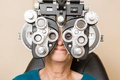 Woman Having An Eye Test Royalty Free Stock Photography
