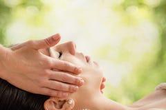 Woman having facial beauty treatment. Stock Image