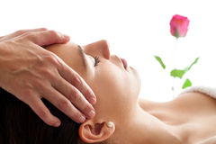 Woman having Facial massage isolated. Stock Photography