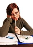 Woman having financial problems Stock Images