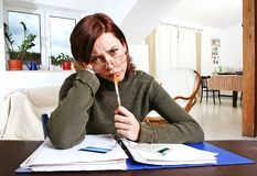 Woman having financial problems Stock Photography