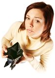 Woman having financial problems Royalty Free Stock Photography