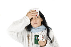 Woman having flu Royalty Free Stock Photography