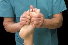 Woman Having Foot Massage Stock Photo